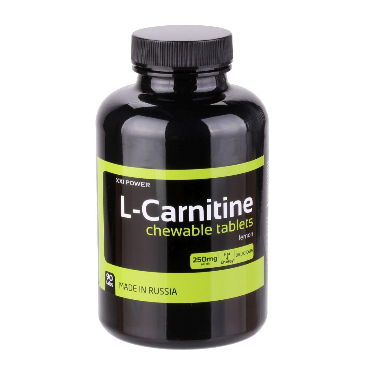 Жевательные таблетки ХХI Power L-карнитин, цитрус, 90 таблеток4607062758014Это великолепные жевательные таблетки с L-карнитином, который, как известно, эффективно преобразует жир в энергию и оптимизирует обмен веществ. Наибольший эффект достигается в сочетании с регулярной физической нагрузкой и низкожировой, высокобелковой диетой. Содержание питательных веществ в порции (2 таблетки): L-карнитин - 500 мг.Как повысить эффективность тренировок с помощью спортивного питания? Статья OZON Гид