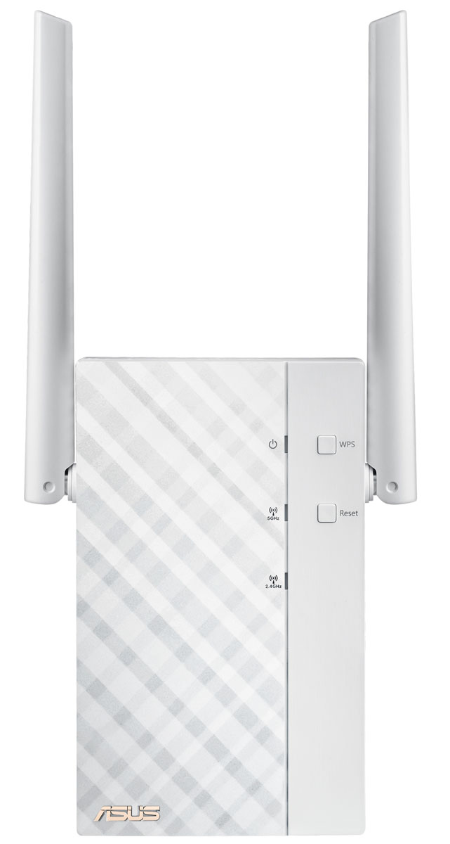 ASUS RP-AC56 повторитель беспроводного сигналаRP-AC56Основное предназначение повторителя Asus RP-AC56 – увеличивать охват беспроводной сети. С его помощью вы легко сможете обеспечить подключение к Wi-Fi для всех цифровых устройств в каждом уголке вашего дома или офиса. При этом передача данных будет происходить на скорости до 1167 Мбит/с, ведь Asus RP-AC56 поддерживает современный стандарт связи Wi-Fi 802.11ac. Asus RP-AC56 оснащается двухдиапазонным беспроводным модулем стандарта 802.11ac, в рамках которого скорость передачи данных в диапазоне 5 ГГц может достигать 867 Мбит/с. Таким образом, RP-AC56 уже сейчас дает возможность всем пользователям насладиться преимуществами новой технологии, которую относят к пятому поколению беспроводных средств коммуникации.Большая зона покрытия, обеспечиваемая двумя внешними антеннами и оптимизированным усилителем сигнала, делают Asus RP-AC56 идеальным выбором для больших помещений, а поддержка стандарта Wi-Fi 802.11ac означает повышенную скорость передачи данных.Настройка Asus RP-AC56 не требует установки драйверов и совершения каких-либо манипуляций с клавиатурой и мышкой. Вся процедура сводится к одному нажатию на кнопку WPS. Для более глубокой настройки параметров устройства его следует подключить к компьютеру по Ethernet-кабелю и открыть в браузере его веб-интерфейс. Также имеется возможность настройки по беспроводной сети с планшета или смартфона.RP-AC56 следует размещать между маршрутизатором и той областью, на которую нужно расширить зону действия беспроводной сети. Наилучшая работа устройства обеспечивается при наличии сильного сигнала от маршрутизатора. Проверить это можно с помощью индикатора на передней панели.С помощью RP-AC56 можно организовать потоковую трансляцию мультимедийных файлов в самых разных форматах. Для работы с этой функцией используется специальное приложение ASUS AiPlayer.Благодаря поворотному механизму штекера питания, Asus RP-AC56 всегда можно расположить в вертикальном положении, которое является оп