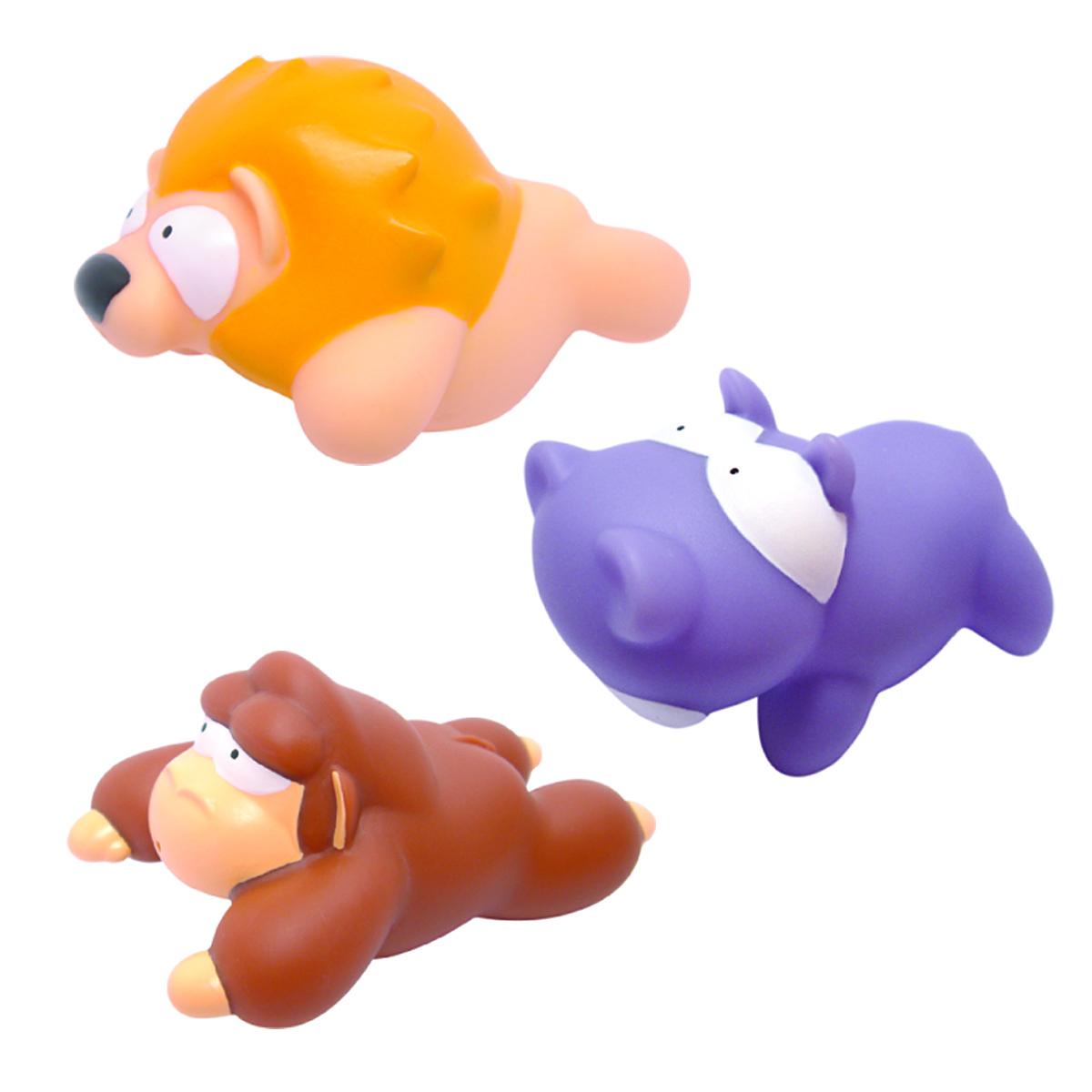 Mara Baby Набор игрушек для ванной Джунгли 3 шт lubby набор игрушек для ванной морской мир 4 шт