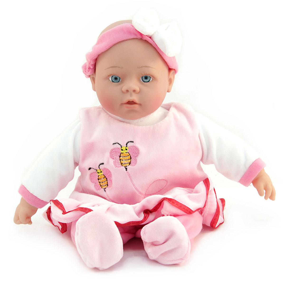 Lisa Jane Пупс озвученный в платье цвет розовый сумки lisa jane сумка детская