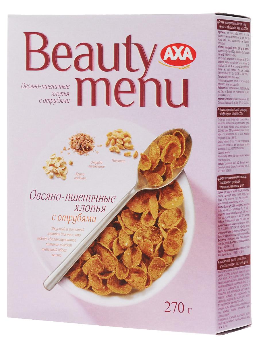 AXA Beauty menu хлопья овсяно-пшеничные с отрубями, 270 г it8528e axa axs fxa fxs exa exs