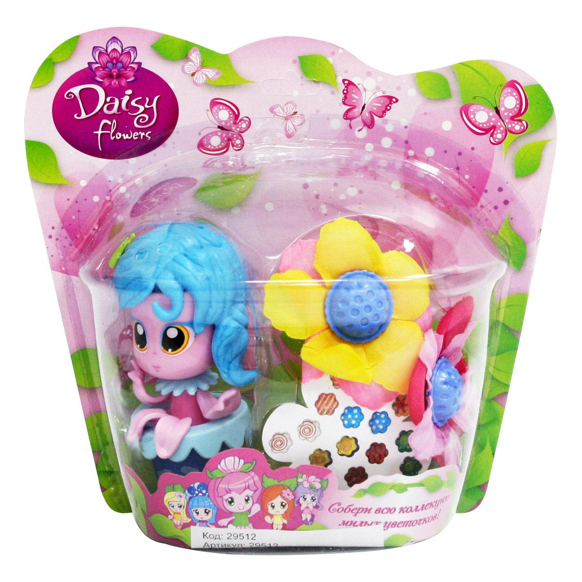 Daisy Мини-кукла Цветочек цвет голубой розовый