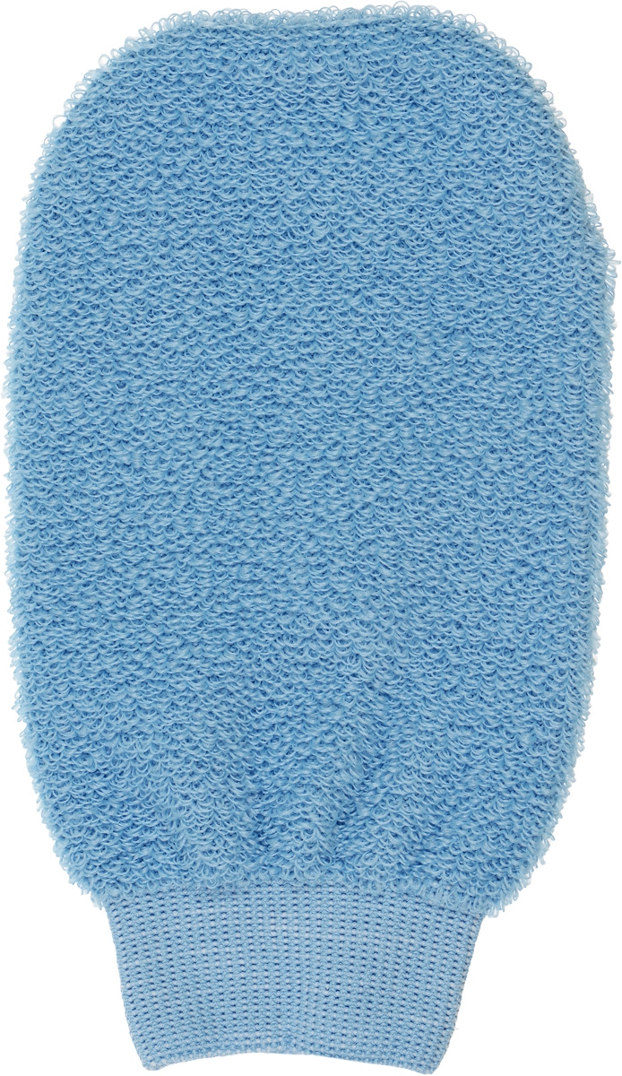 Мочалка-рукавица для лица Riffi, цвет: голубой900_голубой