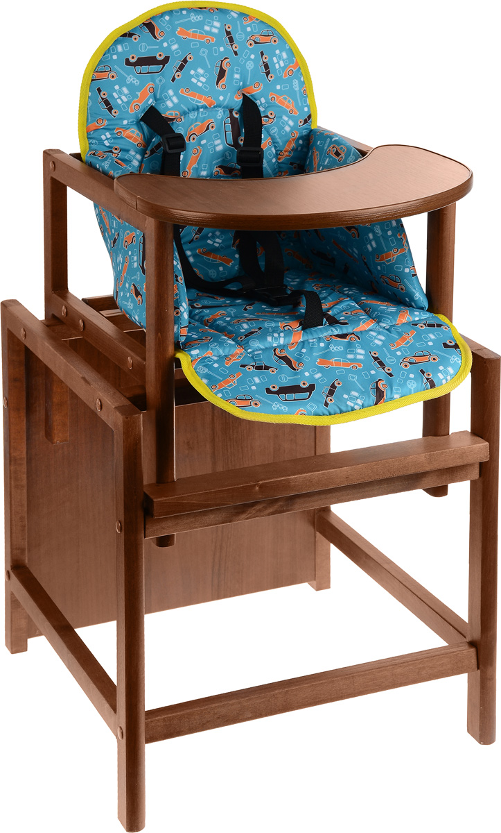 Топотушки Стульчик для кормления Крепыш цвет темно-бирюзовый selby стульчик для кормления цвет белый зеленый 827378