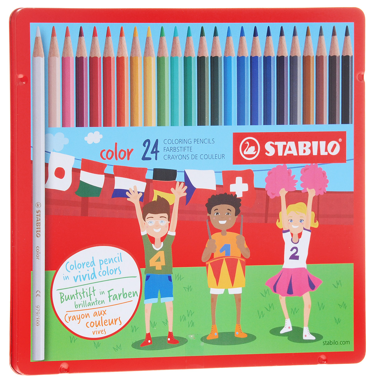 Stabilo Набор цветных карандашей Color 24 шт stabilo 880 woody 3 in 1 multipurpose pencils water color pencils crayon brushes assorted color 6 18 colors