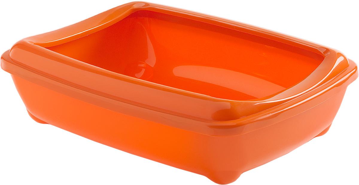 Туалет для кошек Moderna Arist-O-Tray, открытый, цвет: оранжевый, 38 х 50 х 14 см14C192148Туалет для кошек Moderna Arist-O-Tray изготовлен из высококачественного пластика. Высокий борт, прикрепленный по периметру лотка, удобно надевается и предотвращает разбрасывание наполнителя. Такой туалет не впитывает неприятные запахи и прекрасно отмывается.