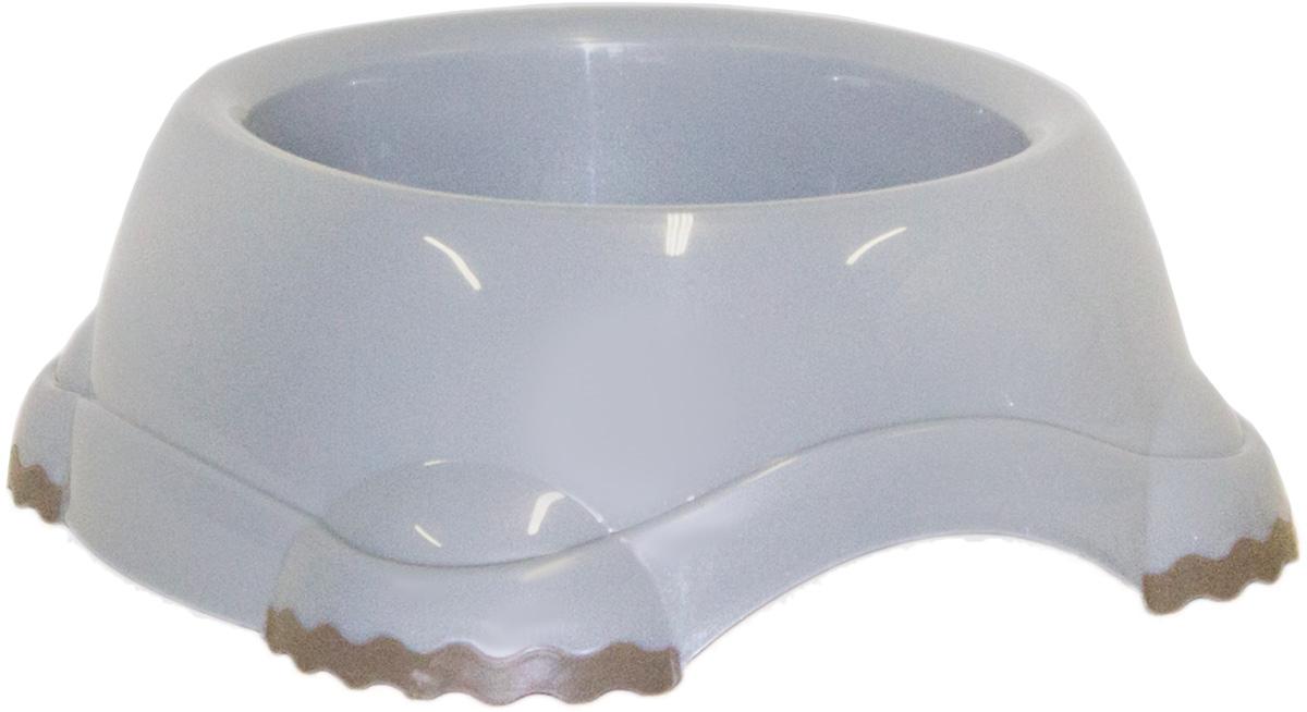 Миска Moderna Smarty bowl, с антискольжением, цвет: серый, 19 х 7 см миска для кошек собак гамма n0