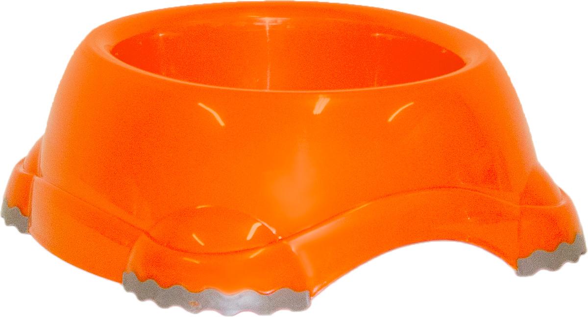 Миска Moderna Smarty bowl, с антискольжением, цвет: оранжевый, 19 х 7 см14H103148Миска для корма и воды из полированного пластика. Ножки миски имеют резиновые накладки для предотвращения скольжения по полу. Качественный пластик не гнется, не ломается, не впитывает запахи, миска легко моется, имеет длительных срок эксплуатации. Стильный дизайн, широкая цветовая гамма. Специально разработанная конструкция для удобства Вашего питомца.Характеристики:Размер миски: 24 х 21 х 9 см;Глубина миски: 7 см;Цвет: оранжевый.