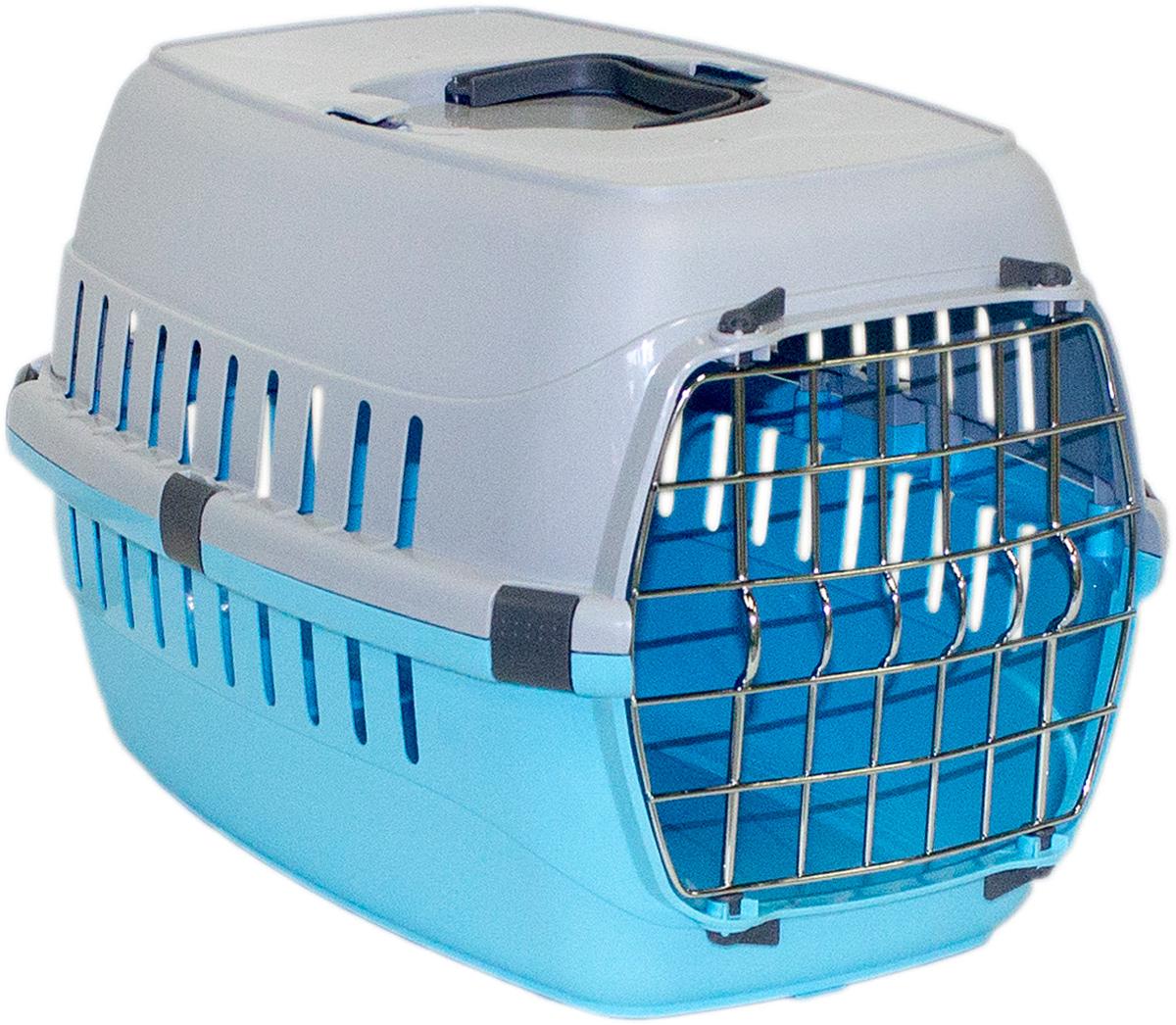 Переноска для животных Moderna Roadrunner 1, с металлической дверью, цвет: голубой, 31 х 51 х 34 см roadrunner 506 gps отзывы
