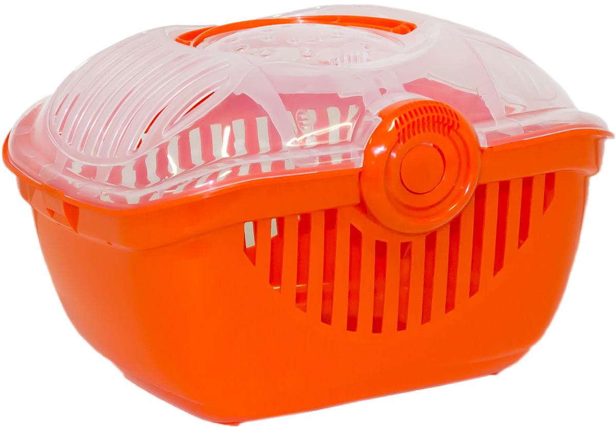 Переноска для животных Moderna Top Runner, цвет: оранжевый, 39 х 29 х 25 см14T700148Переноска Moderna Top Runner выполнена из высококачественного пластика и имеет приятный внешний вид. Она достаточно вместительна и оснащена вентиляционными отверстиями в боковых частях, благодаря чему животное может дышать. Сверху расположена пластиковая прозрачная крышка на которой имеется ручка для удобной транспортировки.Размер: 39 х 29 х 25 см.