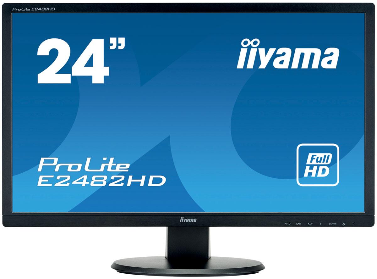 iiyama E2482HD-B1, Black мониторE2482HD-B1Iiyama E2482HD-B1 - высококачественный Full HD-дисплей, оснащенный светодиодной подсветкой иподдерживающий разрешение 1920 x 1080 пикселей. Уровень динамического контраста этой модели превышает 12000 000:1, а время отклика пикселей составляет всего 5 мс, что позволяет монитору демонстрировать отличноекачество изображения. Монитор имеет сертификаты TCO и Energy Star. Модель идеально подойдет для домашних иофисных потребностей.Контрастность - это отношение яркостей самой светлой и самой тёмной частей изображения на экране ЖК- монитора. Технология Advanced Contrast Ratio (продвинутая контрастность) автоматически регулируетконтрастность и яркость, основываясь на характеристиках картинки. Чем выше контрастность, тем лучше будетсмотреться картинка в темной комнате.Благодаря поддержке разрешения 1920х1080, монитор может отображать любые изображения! Full HDобеспечивает большую рабочую зону по сравнению с обычными мониторами, которые работают в разрешении1280х1024.