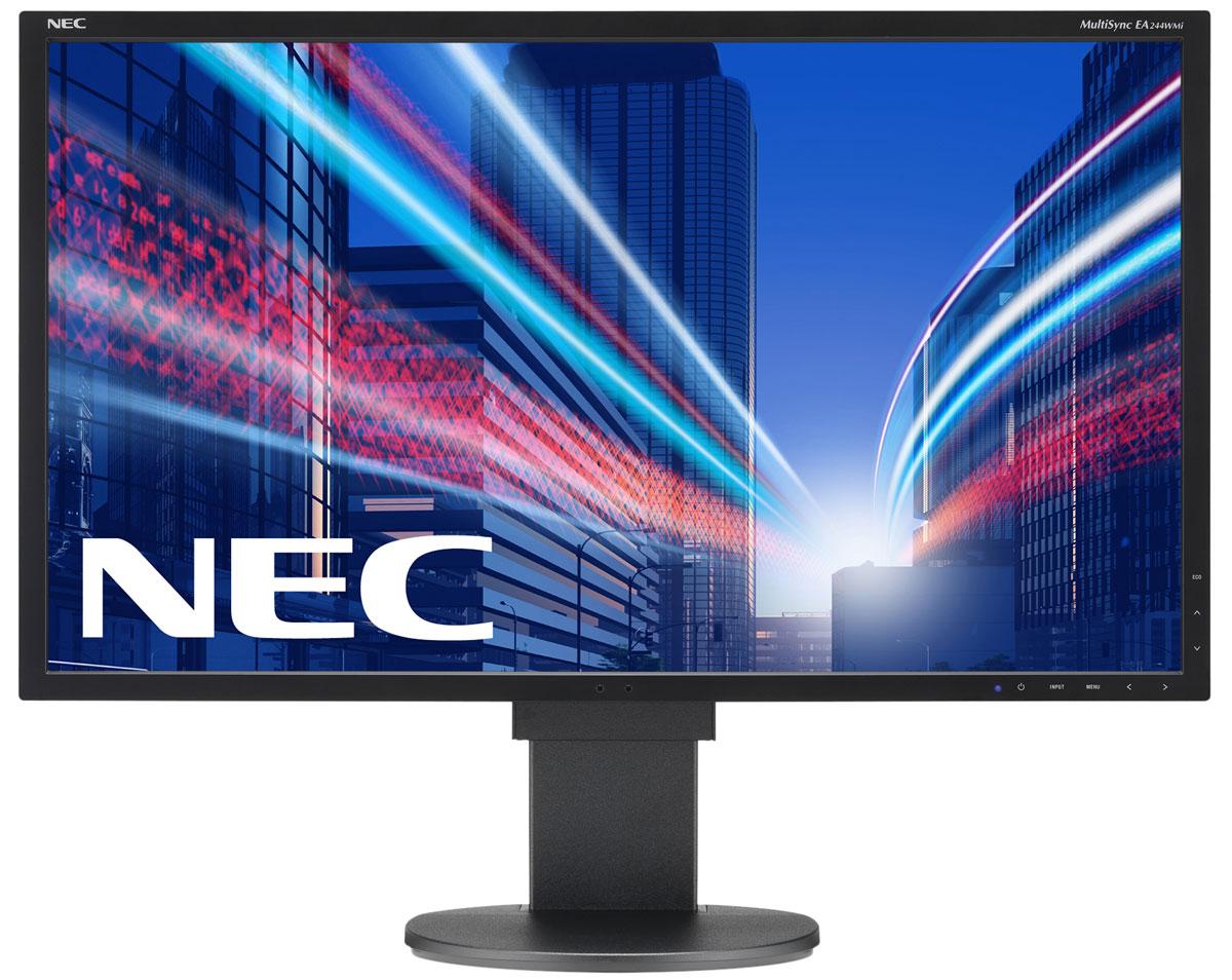 NEC EA244WMi-BK, Black монитор60003414Модель NEC EA244WMi обладает очень тонкой панелью со светодиодной подсветкой и IPS-технологией, что обеспечивает ультрасовременный и ультратонкий дизайн в сочетании с характеристиками, идеальными для корпоративного офисного использования. Датчик рассеянного света и датчик присутствия являются стандартными характеристиками данной модели, кроме того, модель обладает улучшенными эргономическими характеристиками, например, механизмом регулирования высоты до 130 мм. Дисплей также располагает широкими возможностями соединения: DisplayPort, HDMI, DVID и D-Sub.Идеальный набор функциональных возможностей для офисной эксплуатации – встроенные динамики, гнездо для подключения наушников и USB-хаб обеспечивают отличные опции для офисной коммуникации.Датчик рассеянного света – благодаря функции автоматической яркости Auto Brightness всегда можно оптимизировать уровень яркости в зависимости от освещения и условий изображения.Датчик присутствия человека – определяет присутствие человека перед экраном и автоматически включает или выключает экран для экономии электроэнергии.
