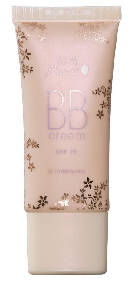 100% Pure BB крем оттенок 10 (Кремовый), 30 мл1CBBC10LВВ крем - это мультифукнциональное средство сочитающее в себе продолжительное терапевтическое действие в глубоких слоях кожи, увлажнение, защиту SPF, консилер, выравнивание тона кожи. Роскошная формула дает Вам безупречный, сияющий цвет лица.  Тысячи светоотражающих пигментов придают коже невероятное сияние.