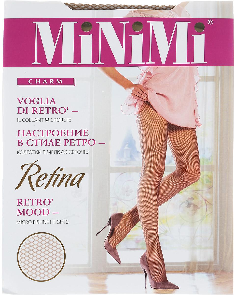 Колготки женские Minimi Retina, цвет: Daino (коричневый). Размер 4 (L/XL)Retina DainoМодные эластичные женские колготки Minimi Retina выполнены в мелкую сеточку с ажурным поясом. Модель изготовлена с использованием бесшовной технологии, с хлопковой гигиенической ластовицей и усиленным мыском. Эластичная резинка на поясе плотно облегает талию, обеспечивая комфорт и удобство.Марка Minimi - это принципиально новый продукт итальянской компании Divage International S.r.l.. Колготки Minimi созданы для утонченных женщин, которые обладают собственным стилем и любят и умеют приковывать к себе взгляды. Их образ идеален и продуман до мелочей. Женщины, выбирающие колготки марки Minimi, ценят комфорт и заботятся о своем здоровье. Разработчики марки Minimi опираются на мировой опыт и предлагают исключительно современные тенденции и великолепное качество по доступной цене, заботясь о постоянном обновлении коллекции. Это делает колготки Minimi верным спутником стильной женщины в стремительном ритме жизни и позволяет ей всегда оставаться модной!Уважаемые клиенты! Обращаем ваше внимание на то, что упаковка может иметь несколько видов дизайна. Поставка осуществляется в зависимости от наличия на складе.