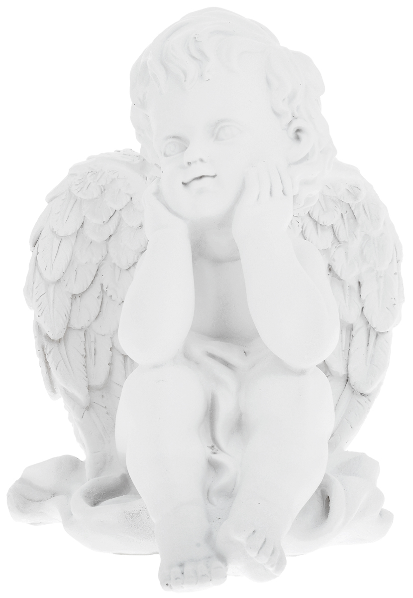Фигурка декоративная Феникс-Презент Мечтающий ангел, высота 20,5 см декоративная фигурка феникс презент африканка с дочерьми высота 38 5 см