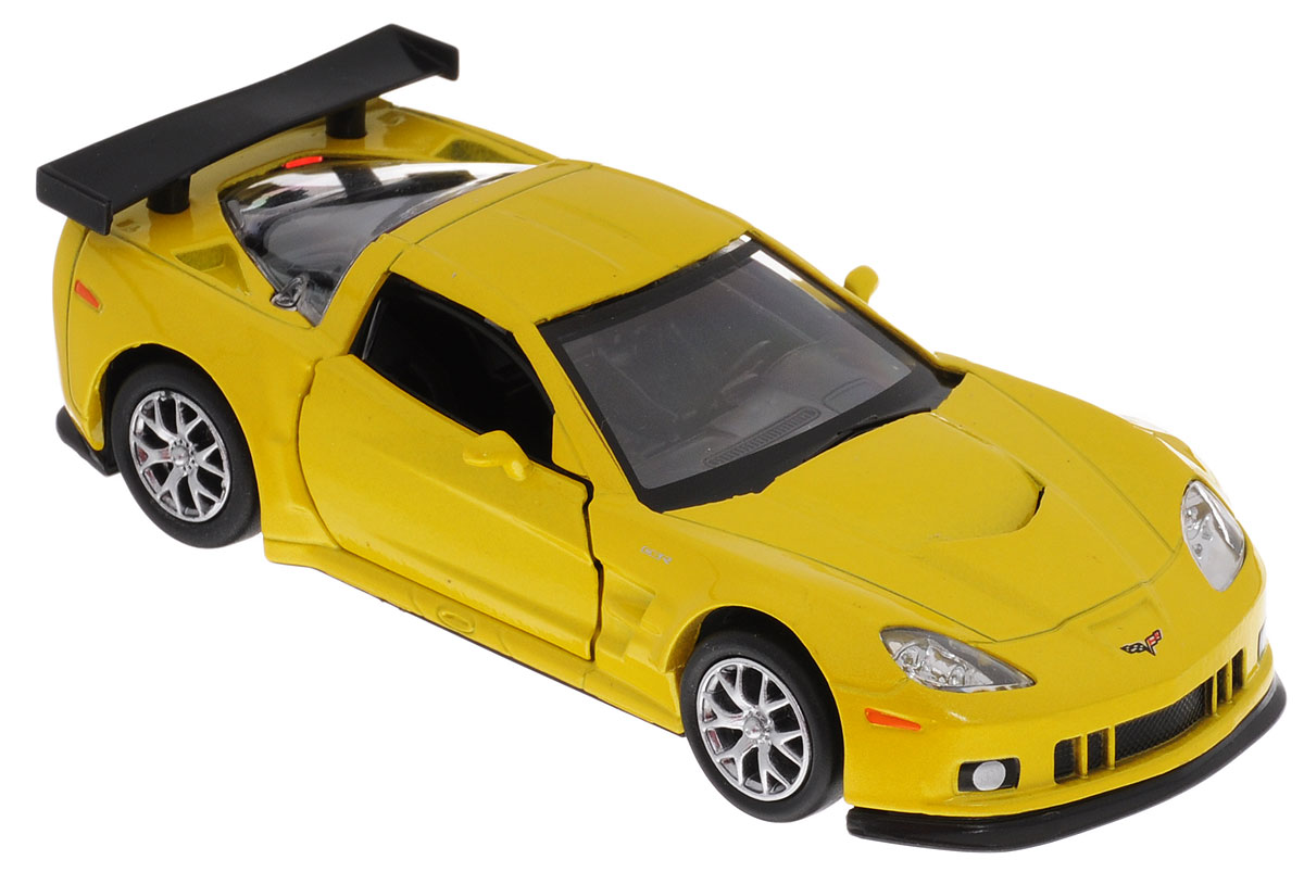 Uni-FortuneToys Модель автомобиля Chevrolet Corvette C6-R цвет желтый металлик