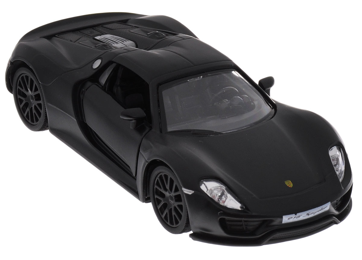 Uni-Fortune Toys Модель автомобиля Porsche 918 Spyder цвет черный rastar 1 24 porsche 918 spyder серебро 71400