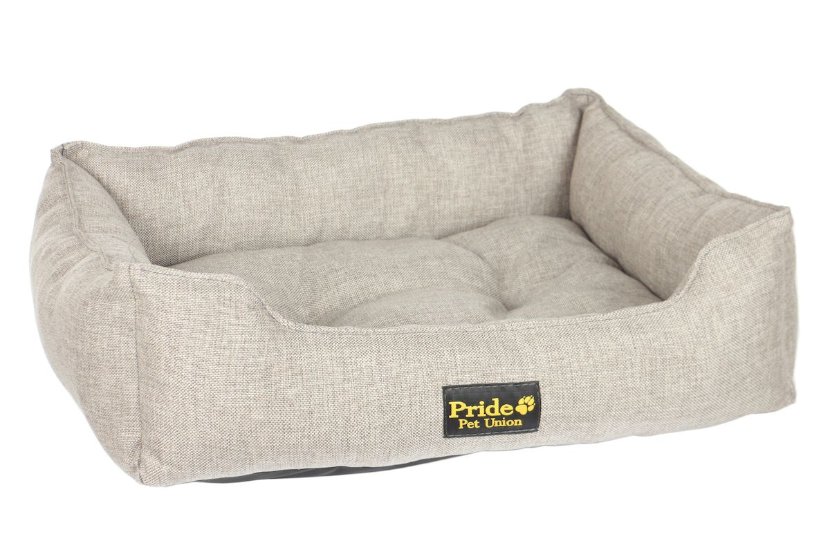 Лежак для животных Pride Прованс, цвет: бежевый, 60 х 50 х 18 см лежак для животных pride милитари 2 цвет коричневый 90 х 80 х 25 см