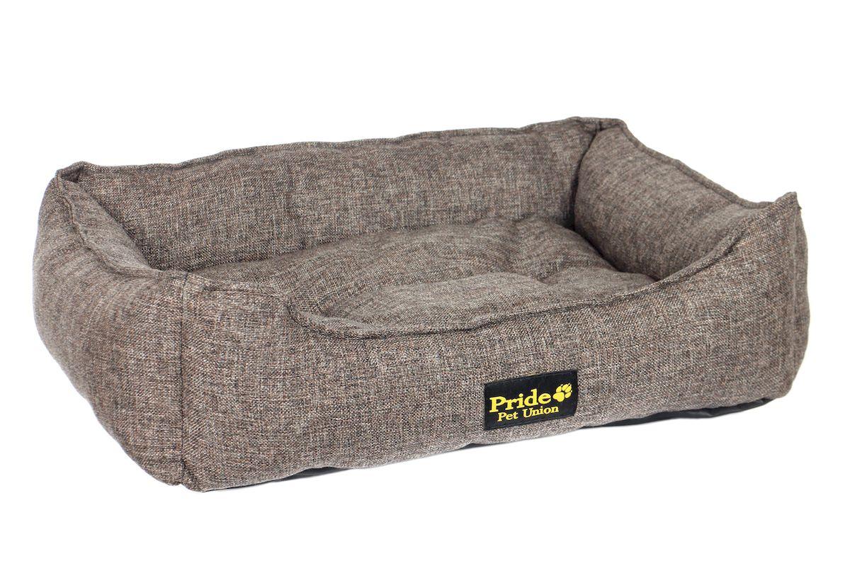 Лежак для животных Pride Прованс, цвет: кофе, 90 х 80 х 25 см лежак дарэлл хантер лось 1 с подушкой 45 33 14см