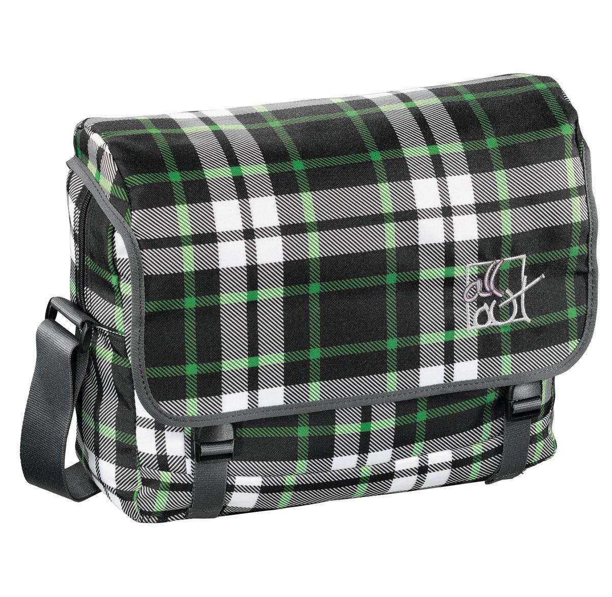 Hama Сумка школьная All Out Barnsley Forest Check серый зеленый черный