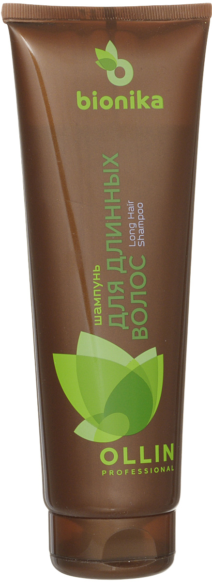 Ollin Шампунь для длинных волос BioNika Long Hair Shampoo 250 мл725980OLLIN BioNika Long Hair Shampoo - шампунь для длинных волос. Обладает антиоксидантным действием, содержит аминокислоты и эластин, нормализует обменные процессы и регенерацию кожи головы, снижает её жирность и препятствует пересыханию волос по длине. Волосы приобретают здоровый внешний вид и дополнительную энергию.