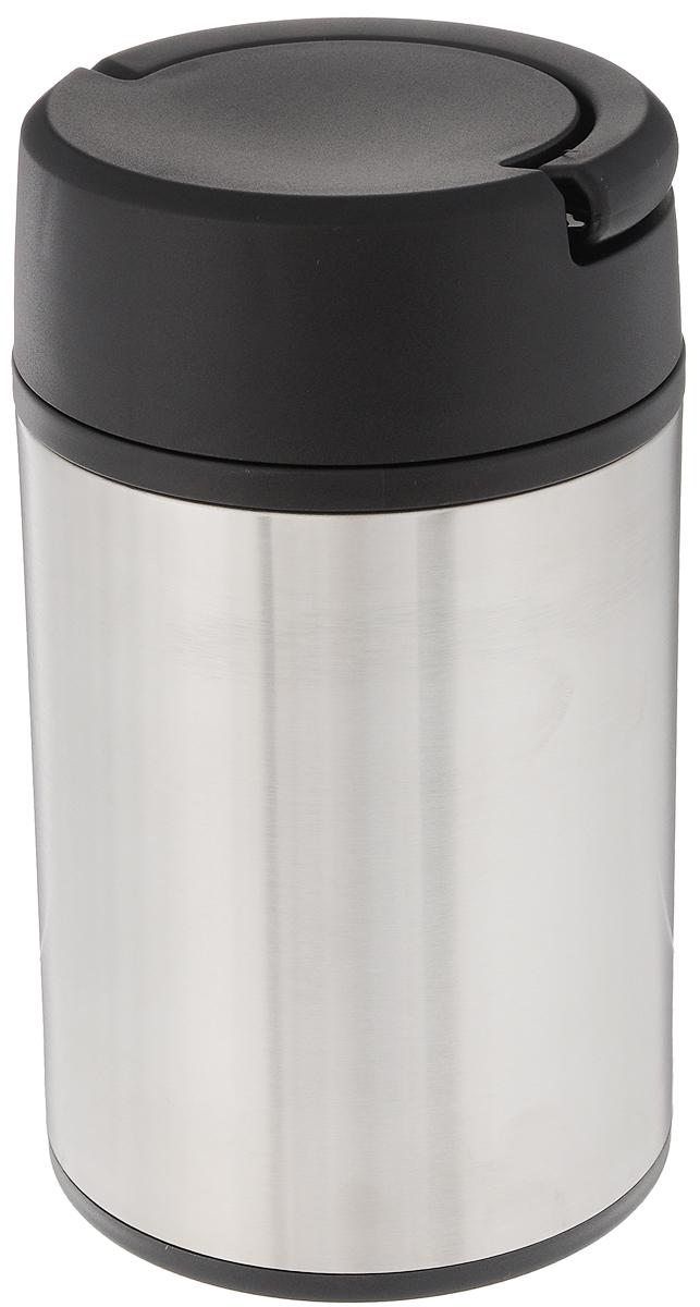 Термос Tescoma Constant, с ручкой, 1 л318538Термос Tescoma Constant изготовлен из нержавеющей стали. Вакуумный термос с двойной колбой сохраняет горячие и холодные напитки в течение нескольких часов. Термос оснащен двумя пластиковыми мисками для хранения супов, соусов, гарниров, салатов и много другого. Откидная ручка позволяет удобно переносить термос и экономить место. Термос при обычном использовании не деформируется. Продукты можно хранить и переносить непосредственно в нержавеющей емкости или пластиковых мисках, которые можно вкладывать в термос.Нельзя мыть в посудомоечной машине.Диаметр горлышка по верхнему краю: 10 см. Диаметр основания: 10 см. Высота термоса: 20 см. Диаметр чашки по верхнему краю: 5,5 см.