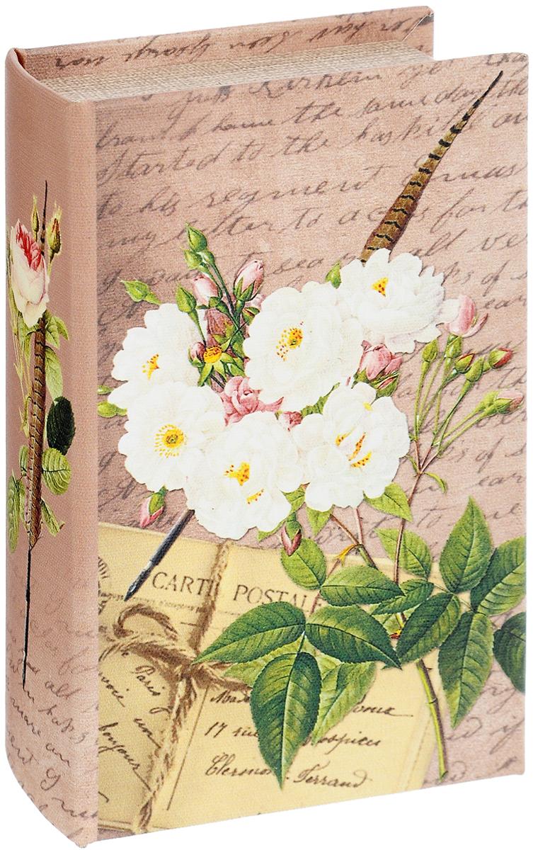 Шкатулка-сейф Феникс-Презент Белые розы39511Шкатулка-сейф Феникс-Презент Белые розы прекрасно подойдет для хранения денег, ювелирных украшений, ценных вещей. Шкатулка выполнена в виде книги, так что, если вы поставите ее на полку, никто не заметит, что это шкатулка. Изделие изготовлено из МДФ и декорировано изысканным изображением белых роз. Крышка шкатулки закрывается на магнит. Внутри имеется металлическая дверца, запирающаяся на ключ. В комплекте 2 ключа. Изделие прекрасно впишется в интерьер вашего дома и послужит прекрасным подарком к любому празднику.