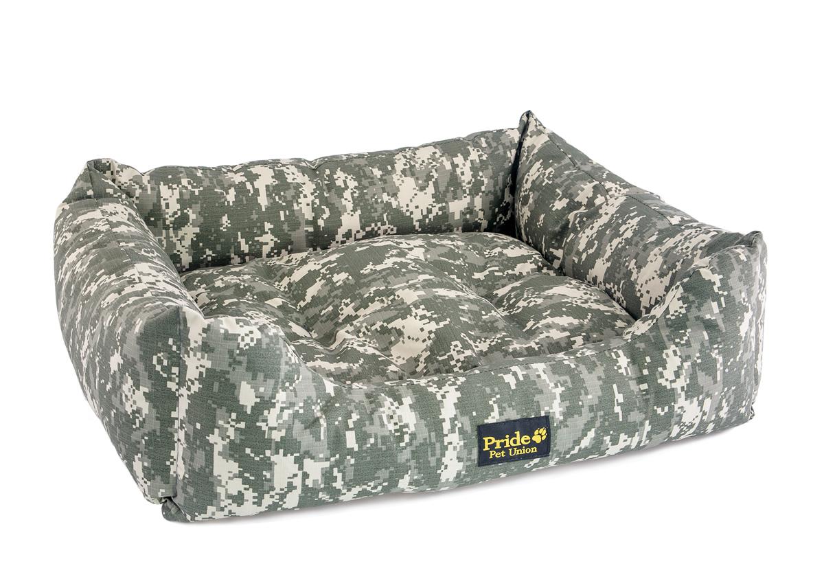 Лежак для животных Pride Милитари-1, цвет: милитари, 90 х 80 х 25 см лежак дарэлл хантер лось 1 с подушкой 45 33 14см