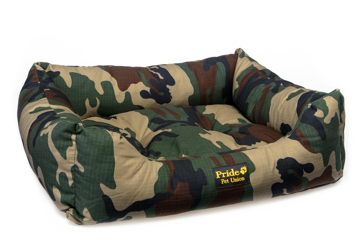 Лежак для животных Pride Милитари-2, 90 х 80 х 25 см лежак дарэлл хантер лось 2 с подушкой 55 40 16см