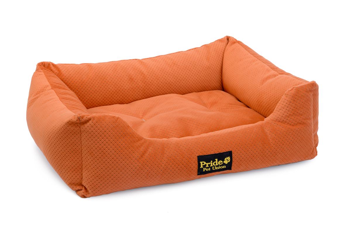 Лежак для животных Pride Престиж, цвет: терракотовый, 60 х 50 х 18 см матрас pride престиж цвет зеленый 71х54 см