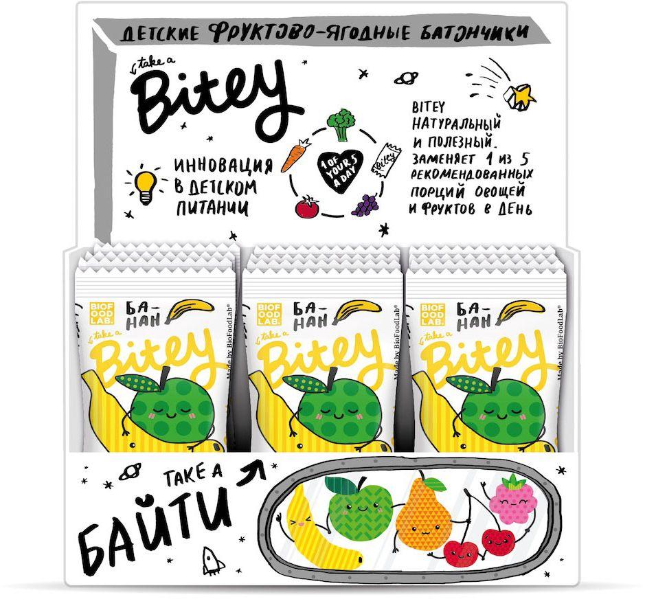 Take A Bitey Яблоко-Банан батончик фруктово-ягодный, 30 шт по 25 г take a bitey яблоко груша батончик фруктово ягодный 25 г