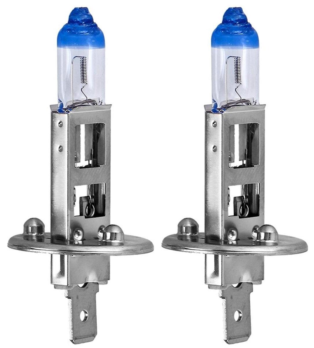 Лампа автомобильная галогенная Philips X-tremeVision, для фар, цоколь H1 (P14.5s), 12V, 55W, 2 шт12258XV+S2Галогенная лампа для автомобильных фар Philips X-tremeVision изготовлена из запатентованного кварцевого стекла с УФ-фильтром Philips Quartz Glass. Кварцевое стекло в отличие от обычного стекла выдерживает гораздо большее давление и больший перепад температур. При попадании влаги на работающую лампу, лампа не взрывается и продолжает работать. Автомобильные лампы Philips X-tremeVision обладают повышенной яркостью, обеспечивая на 130% больше света на дороге. Такие лампы позволяют увеличить видимость перед автомобилем на 45 метров, благодаря чему вы можете видеть дальше, реагировать быстрее и водить безопаснее.Яркий белый свет (3700K) на 20% белее света стандартных ламп головного освещения. Запатентованная технология Philips Gradient Coating обеспечивает более мощный световой поток, максимальную яркость и невероятный комфорт в темное время суток. Лампы Philips X-tremeVision созданы для долгой и надежной службы. Они гарантируют хороший обзор и видимость на дороге в течение длительного времени.