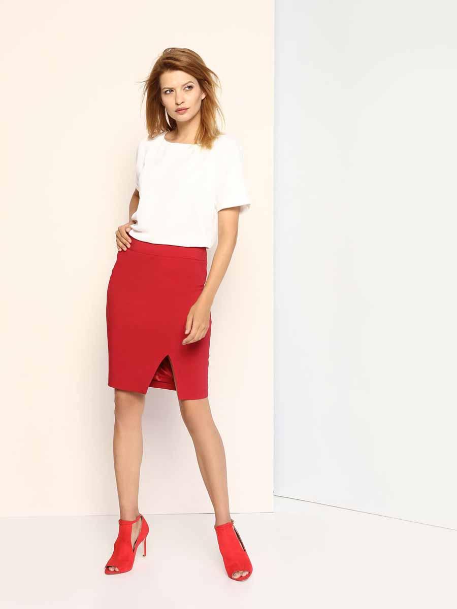 Юбка Top Secret, цвет: темно-красный. SSD1008CE. Размер 36 (42) шорты женские top secret цвет оранжевый ssz0727po размер 36 42