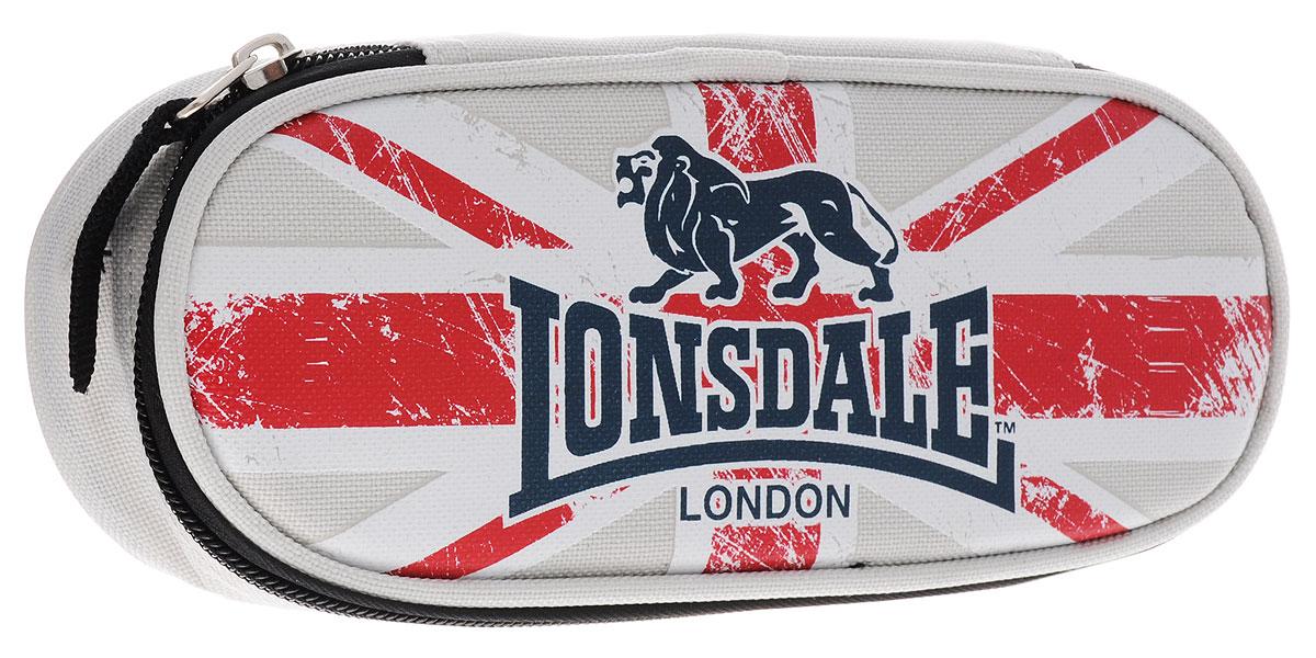Пенал жесткий, с креплениями для канцелярских принадлежностей, размер 21 х 5 х 7,5 см, Lonsdale