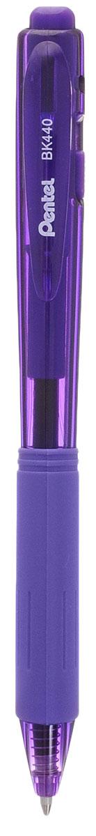 Шар.ручка авт. фиолет. стержень 1.0 мм трехгран.корпусPBK440-V