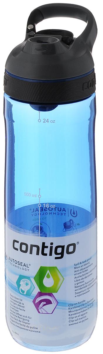 Бутылка для воды Contigo Cortland, цвет: синий, серый, черный, 720 млCONTIGO0462Бутылка для воды Contigo Cortland изготовлена из высококачественного прозрачного пластика, безопасного для здоровья. Закручивающаяся крышка с герметичным клапаном для питья обеспечивает защиту от проливания. Оптимальный объем бутылки позволяет взять небольшую порцию напитка. Она легко помещается в сумке или рюкзаке и всегда будет под рукой. Изделие имеет мерную шкалу, которая позволит контролировать количество жидкости. Такая идеальная бутылка небольшого размера, но отличной вместимости наполняет оптимизмом, даря заряд позитива и хорошего настроения. Бутылка для воды Contigo Cortland - отличное решение для прогулки, пикника, автомобильной поездки, занятий спортом и фитнесом. Высота бутылки (с учетом крышки): 25,5 см.Диаметр дна: 6,5 см.