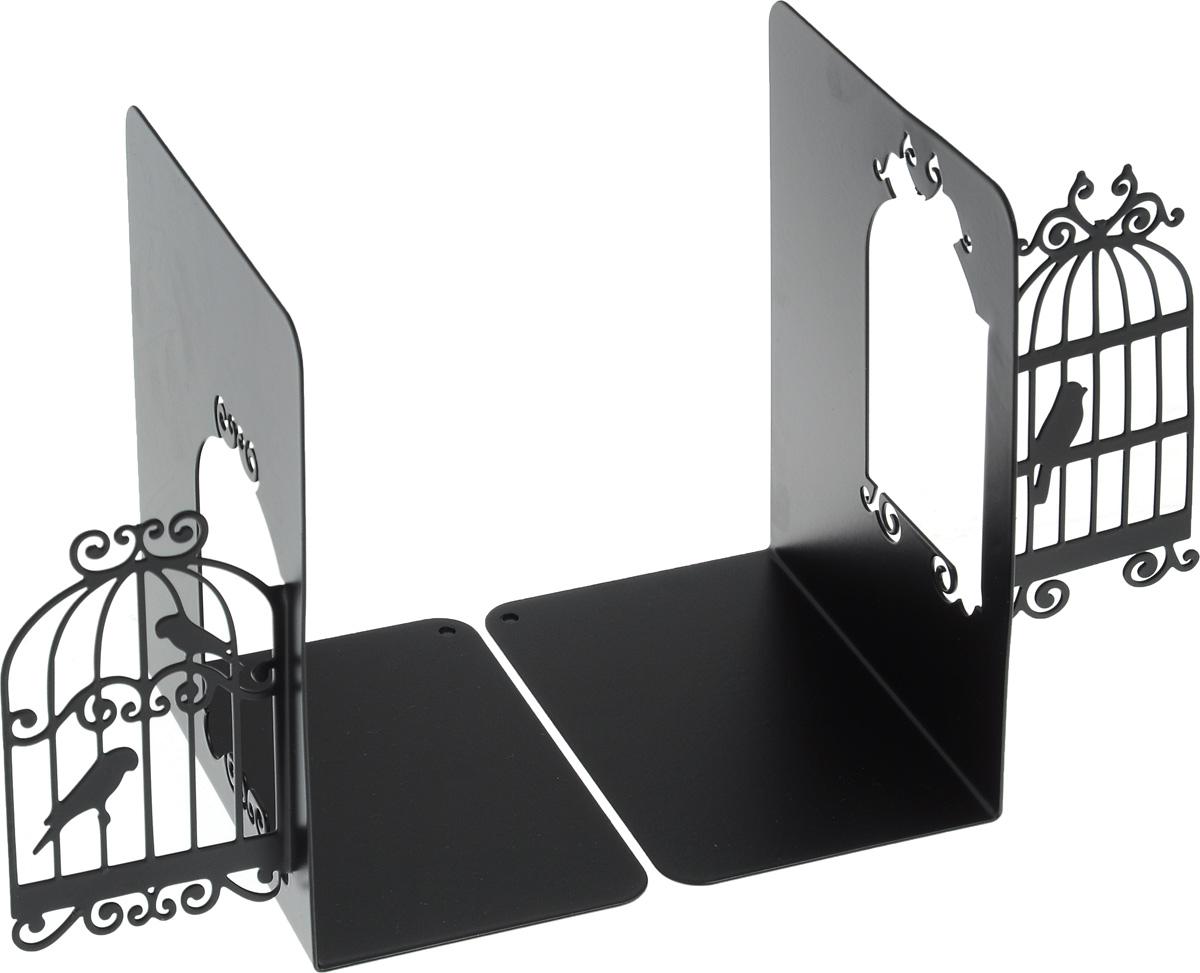 Подставка-ограничитель декоративная для книг Феникс-Презент Клетки для птиц, 2 шт