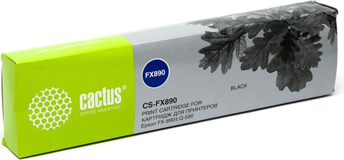 Cactus CS-FX890, Black картридж ленточный для Epson FX-890/LQ-590CS-FX890Картридж ленточный Cactus CS-FX890 для матричных принтеров Epson FX-890/LQ-590.Расходные материалы Cactus для печати максимизируют характеристики принтера. Они обеспечивают повышенную четкость изображения и надежное качество печати.