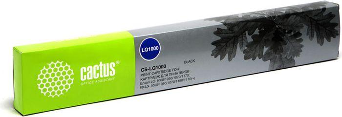 Cactus CS-LQ1000, Black картридж ленточный для Epson LQ-1000/1050/1070/1170/FX/LX-1000/1050/1070/1150/1170CS-LQ1000Картридж ленточный Cactus CS-LQ1000 для матричных принтеров Epson LQ-1000/1050/1070/1170/FX/LX-1000/1050/1070/1150/1170.Расходные материалы Cactus для печати максимизируют характеристики принтера. Они обеспечивают повышенную четкость изображения и надежное качество печати.