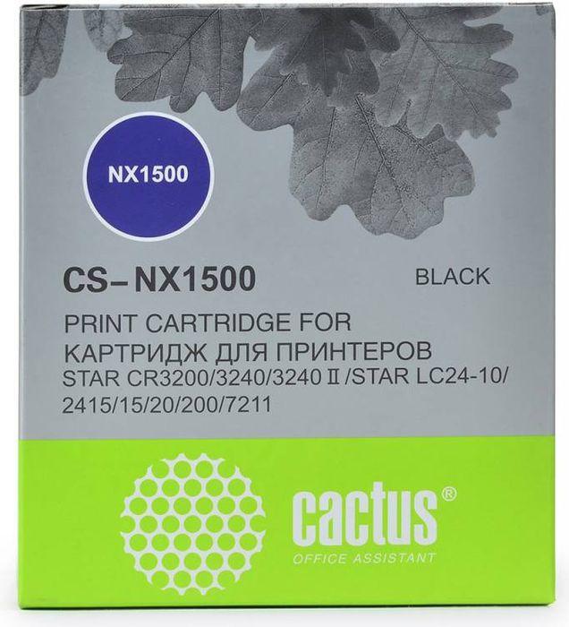Cactus CS-NX1500, Black картридж ленточный для Star NX-1500/24xx/LC-8211CS-NX1500Картридж ленточный Cactus CS-NX1500 для матричных принтеров Star NX-1500/24xx/LC-8211.Расходные материалы Cactus для печати максимизируют характеристики принтера. Они обеспечивают повышенную четкость изображения и надежное качество печати.