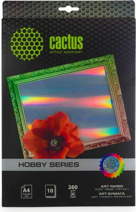 Cactus CS-DA426010M A4/260г/м2 фотобумага для струйной печати (10 листов)CS-DA426010MФотобумага Cactus CS-DA426010M с лазерно-зеркальным покрытием для струйной печати. Печать осуществляется на лазерно-зеркальной стороне бумаги.Арт-бумага Cactusпозволит вам воплотить самые смелые идеи и вдохновенные идеи для творчества и бизнеса. Специальные цветовые оттенки превратят в произведение искусства даже обычный текст и станут изысканным штрихом, дополняющим фирменный стиль и имидж ваших отпечатков.Совместима со струйными принтерами Hewlett-Packard, Canon, Epson и другими марками.