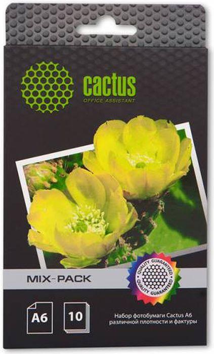 Cactus CS-MIXPACK A6 набор фотобумаги для струйной печати (10 листов)CS-MixpackА6Набор фотобумаги Cactus CS-Mixpack формата A6 различной плотности и фактуры.