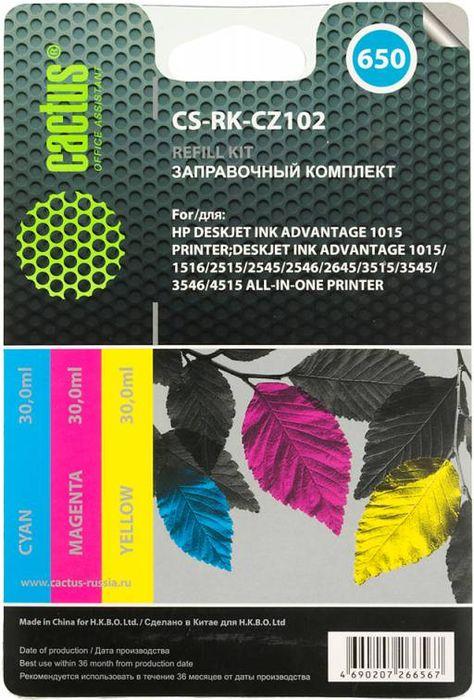 цена на Cactus CS-RK-CZ102, Color заправочный набор для HP DeskJet 2515/3515