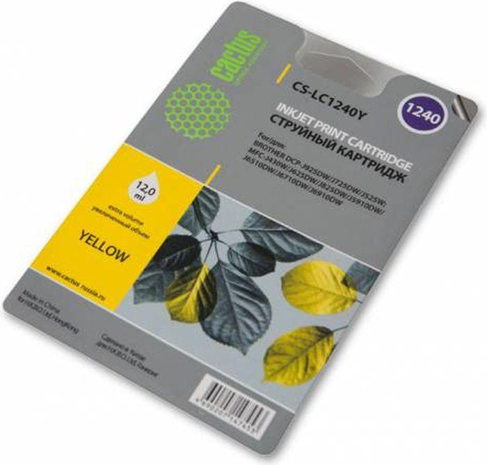 Cactus CS-LC1240XY, Yellow картридж струйный для Brother MFC-J6510/6910DW картридж для принтера cactus cs ce312a yellow