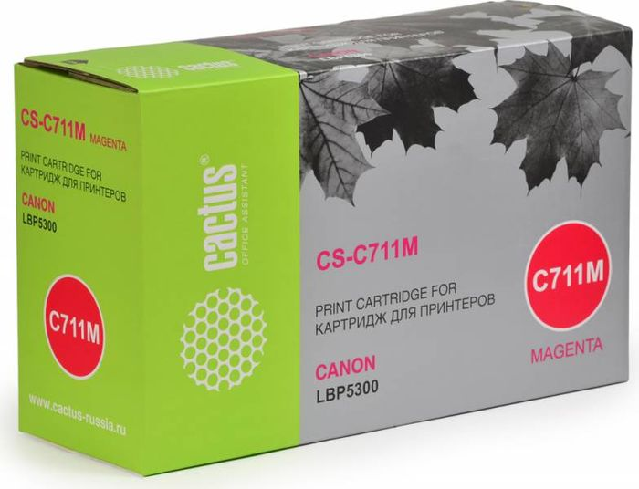 Cactus CS-C711M, Magenta тонер-картридж для Canon LBP5300 - Расходные материалы