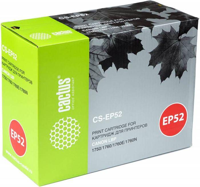 Cactus CS-EP52, Black тонер-картридж для Canon LBP 1750/1760/1760E/1760NCS-EP52Тонер-картридж Cactus CS-EP52 для лазерных принтеров Canon LBP 1750/1760/1760E/1760N.Расходные материалы Cactus для лазерной печати максимизируют характеристики принтера. Обеспечивают повышенную чёткость чёрного текста и плавность переходов оттенков серого цвета и полутонов, позволяют отображать мельчайшие детали изображения. Гарантируют надежное качество печати.