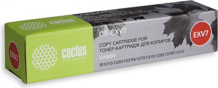 Cactus CS-EXV7, Black тонер-картридж для Canon IR 1200/1210/1230/1270/1270F/1300/1310/1330/1370/1370F/1510/1530/1570/1570FCS-EXV7Тонер-картридж Cactus CS-EXV7 для лазерных принтеров Canon IR 1200/1210/1230/1270/1270F/1300/1310/1330/1370/1370F/1510/1530/1570/1570F.Расходные материалы Cactus для лазерной печати максимизируют характеристики принтера. Обеспечивают повышенную чёткость чёрного текста и плавность переходов оттенков серого цвета и полутонов, позволяют отображать мельчайшие детали изображения. Гарантируют надежное качество печати.
