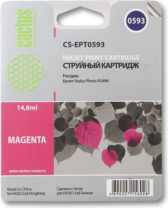 Cactus CS-EPT0593, Magenta картридж струйный для Epson Stylus Photo R2400CS-EPT0593Картридж Cactus CS-EPT0593 для струйных принтеров Epson Stylus Photo R2400.Расходные материалы Cactus для печати максимизируют характеристики принтера. Обеспечивают повышенную четкость изображения и плавность переходов оттенков и полутонов, позволяют отображать мельчайшие детали изображения. Обеспечивают надежное качество печати.