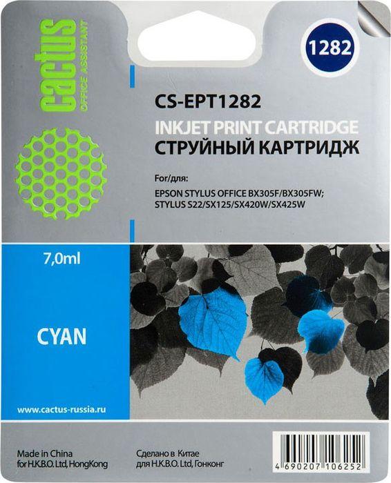 Cactus CS-EPT1282, Cyan картридж струйный для Epson Stylus S22/S125/SX420/SX425/Office BX305CS-EPT1282Картридж Cactus CS-EPT1282 для струйных принтеров Epson Stylus S22/S125/SX420/SX425/Office BX305.Расходные материалы Cactus для печати максимизируют характеристики принтера. Обеспечивают повышенную четкость изображения и плавность переходов оттенков и полутонов, позволяют отображать мельчайшие детали изображения. Обеспечивают надежное качество печати.