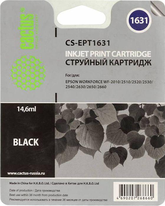 Cactus CS-EPT1631, Black картридж струйный для Epson WF-2010/2510/2520/2530/2540/2630/2650/2660CS-EPT1631Картридж Cactus CS-EPT1631 для струйных принтеров Epson WF-2010/2510/2520/2530/2540/2630/2650/2660.Расходные материалы Cactus для печати максимизируют характеристики принтера. Обеспечивают повышенную четкость изображения и плавность переходов оттенков и полутонов, позволяют отображать мельчайшие детали изображения. Обеспечивают надежное качество печати.